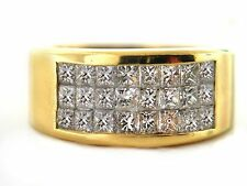 1.71 CT Natural princess cut diamond ring VS/G-H 18K Yellow gold