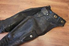 Vintage Leather Western Trim Buffalo Nickel Biker Motorcycle Cowboy Chaps    p46