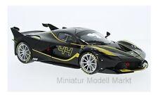 #16907 - Bburago Ferrari FXX-K-noir/jaune-No. 44-J. Taylor - 1:18