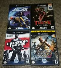 Lot of 4 Nintendo Game Cube Games XGIII/FREEDOM FIGHTERS/TUROK/MEDAL OF HONOR