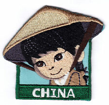 """CHINA"" PATCH - NATIONS - COUNTRIES - REGIONS-Iron On Embroidered  Patch"