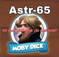 100 Cards- Moby Dick Set- 20 Each White Card- Coin Master Cards- Fast Delivery