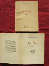 LE FEU - Journal d'une escouade - H. BARBUSSE Editions de l'Imprimerie de MONACO