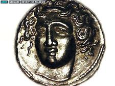 2ROOKS GREECE GREEK THESSALY LARISSA HEMIDRACHM NYMPH / HORSE REP COIN GIFT
