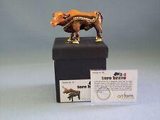 Hinged Trinket Pill Box Toro Bravo Longhorn Bull Object D Art Crystals NIB