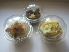 50 x LARGE 8.5cm clear Superior Quality CUPCAKE/MUFFIN cake clams boxes pods