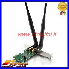 SCHEDA RETE WIFI 300 Mbts 2.4 GHz WIRELESS PCI EXPRESS 2 ANTENNE INTERNA