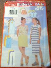 NEW BUTTERICK SEWING PATTERN- 5502 TOP DRESS SKIRT PANTS - 7-10, MODERN + EASY