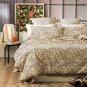 European Vintage Washed Printed Cotton Quilt cover set Leopard