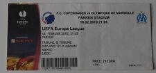 Ticket for collectors EL FC Copenhagen Olympique Marseille OM '10 Denmark France