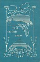 Ansichtskarte Studentika 1904 abgest. Meersburg Muli salutem dicunt  (Nr.775)