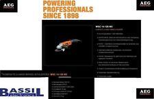 AEG Winkelschleifer WSC 14-125 MX