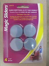 """Magic Sliders Adhesive Floor Slides 1-1/2"""" 4-Pack #04038 New"""