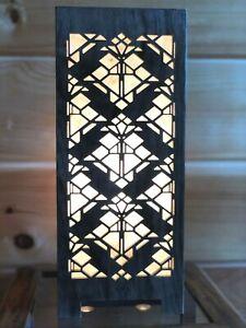 Lightbox Accent Lamp Solid Black Walnut (Design # 4)