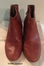 Isabel Marant SZ 37/US 7 Cognac Camel Leather Dicker Ankle Boots Booties