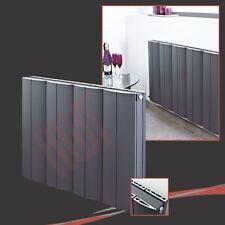 "748mm(w) x 600mm(h) ""Wave"" Anthracite Horizontal Aluminium Radiator - 3824 BTUs"