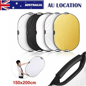 150x200cm 5in1 Oval Handheld Portable Collapsible Light Photography Reflector AU