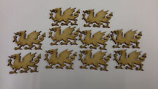 10 x Laser Cut Welsh Dragon Shapes 60 x 35mm made from 3mm MDF