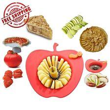 New Peeler Slicer Corer Vegetable Chef Fruit Cut 20 Apple Slices Cutter Scissors