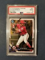 2018 Bowman Chrome #52 VICTOR ROBLES RC Batting Nationals Rookie Card PSA 9 Mint