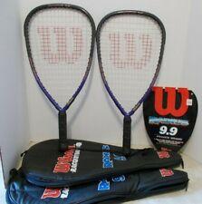 Pair Wilson Radius 9.9 Power Braid Racquetball Racquets - EUC