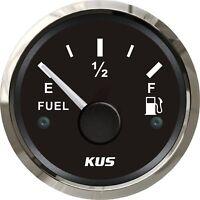 KUS Fuel Gauge Boat Marine Truck Car RV Gas Tank Level Indicator 52mm 0-190ohms