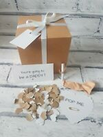 You're going to be a daddy, pop the balloon, baby news, personalised scroll, new
