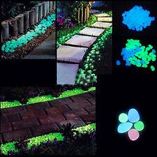 10x Glow In The Dark Pebbles Stone Garden Decor Walkway Aquarium Fish Tank