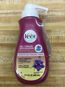 Veet Gel Hair Remover Removal Cream for Women,Sensitive Formula with Aloe,13.5oz
