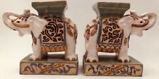 Elephant Bookends, Plant Stands Figurines. Made in Vietnam