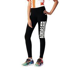 adidas Originals Trefoil Leggings Fitnesshose Damen schwarz [AJ7656]