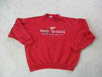 VINTAGE Detroit Red Wings Sweater Adult Extra Large Red NHL Hockey Mens 90s A13*