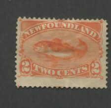 1887 Newfoundland Stamp #48 2c Mint Previously Hinged Fine No Gum Codfish