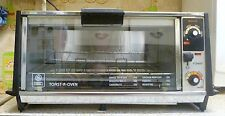 Vintage GE General Electric Chrome Toaster Oven, Model A7T104, MI USA
