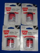 POH Dental No Wax Floss Classic 490 Lot of 4. Total of 400 yards NEW & Sealed