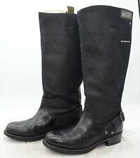 G-Star Raw Women's Patton Cinch Hi Leather + Canvas Knee High Riding Boots Sz 7