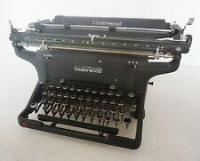 "Antique vintage UNDERWOOD typewriter machine USA -18"" Large Carriage"