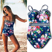 Women One Piece Push Up Bikini Bandage Monokini Swimsuit Swimwear Bathing Suit