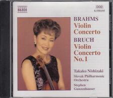 Brahms~VIOLIN CONCERTO ~ Bruch~VIOLIN CONCERTO #1 ~ Takako Nishizaki ~ NEW