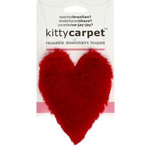 Kitty Carpet: reusable Merkin, Funny Gag Gifts for Women (Red Heart)