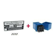 Typenschild + Schlagzahlen Set 4mm  für Simson KR51/1 Schwalbe (Masse: 230kg)