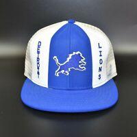 Detroit Lions AJD Lucky Stripes NFL Vintage 80's Trucker Snapback Cap Hat