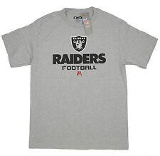 Raiders Medium T-Shirt Oakland NFL Football American Bold Heather Gray
