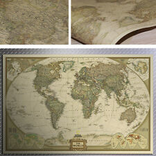 Large Retro Vintage Globe Old World Map Paper Poster Paper Log Gift Wall Decor