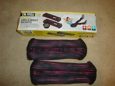 2 Series 8 Fitness 4lb. Pair Ankle/Wrist Weights-Strength Training--(D)