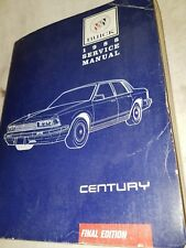 1988 Buick Regal Service Shop Repair Manual Book Engine Drivetrain Electrical