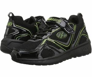 Heelys Girls Rise X2 Tennis Shoe Black Charcoal Bright Yellow Youth Size 4