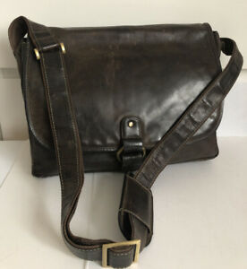Visconti Laptop Shoulder Messenger Bag Chesnut