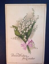 Vintage 1913 Lily Of The Valley Best Wishes For Easter Postcard