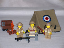 Lego Custom British Army Tent Playset w/ 3 Minifigs Modern Warfare